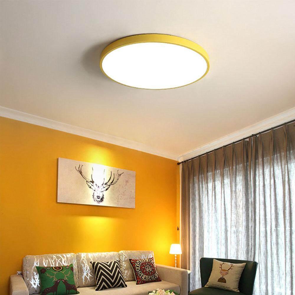 QUKAU LED ceiling light diameter 40CM 24W 3 colors dimmable round bedroom ceiling lamp living room restaurant aisle balcony lamps