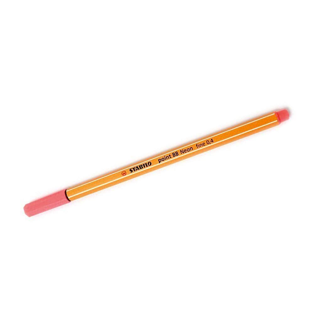Stabilo Point (88/040) 0.4mm Neon Red Fineliner Marker Pen