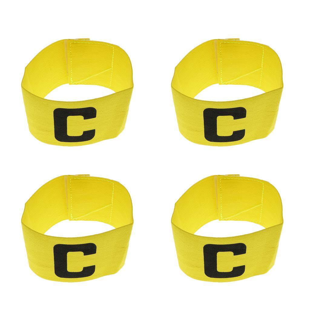 Flameer 4 Pieces Adjustable Soccer Captain Armband Football Elastic Captain Bands By Flameer.