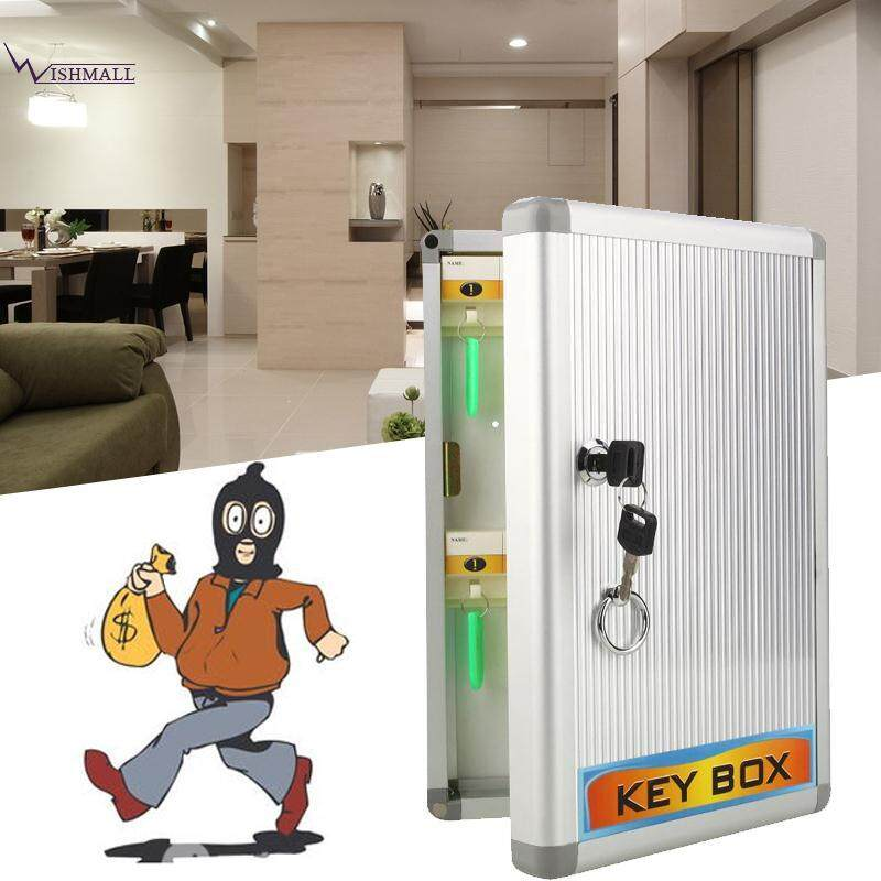 Security Locking 24 Hook Key Storage Cabinet Lockable Safe Box Case with Keys