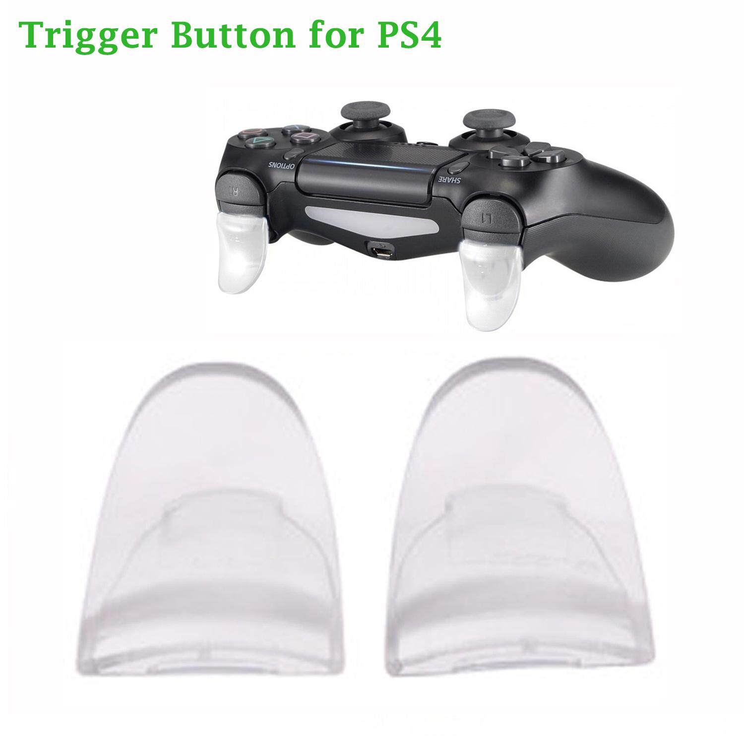 1 Pair Portable Replacement Plastic L2 R2 Extended Trigger Button Set Kit Compatible with PS4 Controller