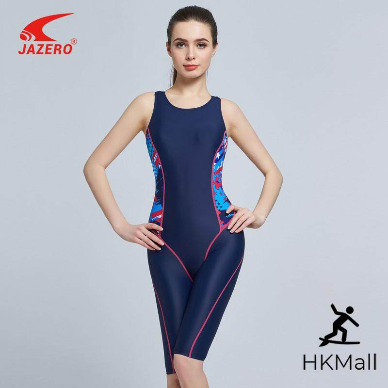 f9d6767858 HKMalll One Piece Swimsuit Women Print Professional Sports Backless Body  Suits Knee-length Swimwear Bathing