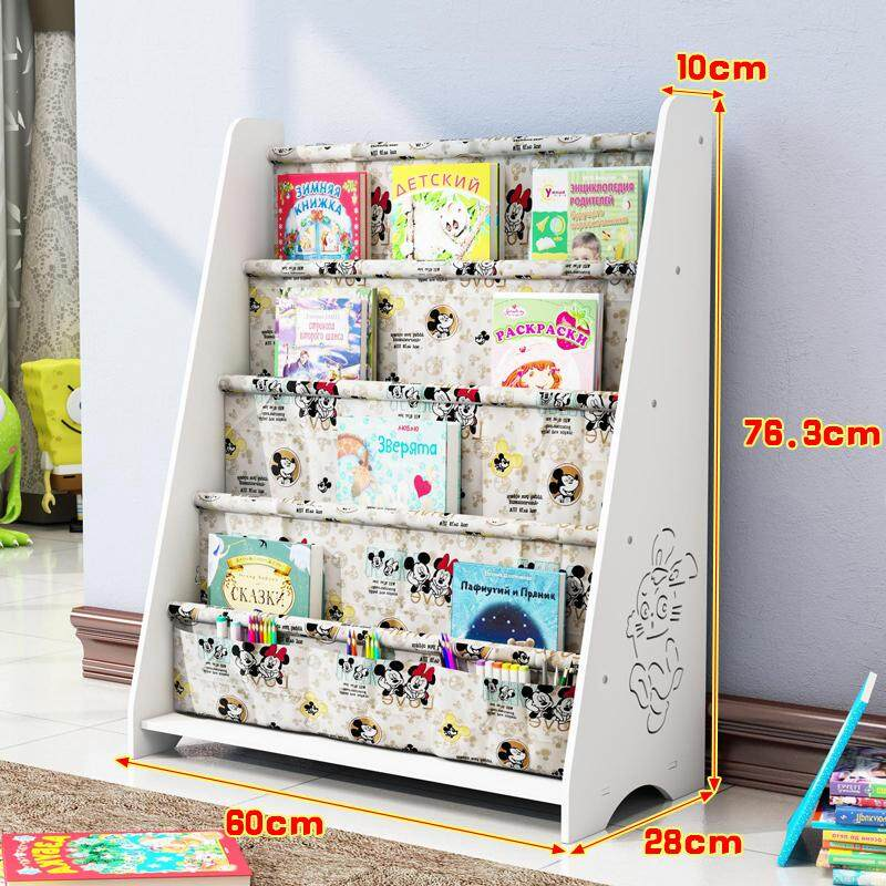 Childrens Bookshelf Floor Simple Rack Baby Bookcase Kindergarten Childrens Picture Book Storage Rack & Kids Furniture