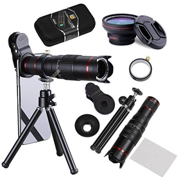 Camera Lens,BECEMURU 22 X 4 in 1 Telephoto Zoom Camera Lens Kit Double Regulation HD Scale Di FOV Phone Lens Attachment with Tripod for iPhone X/8/7/7 Plus/6s/6/5,Samsung Galaxy/Note Smartphone