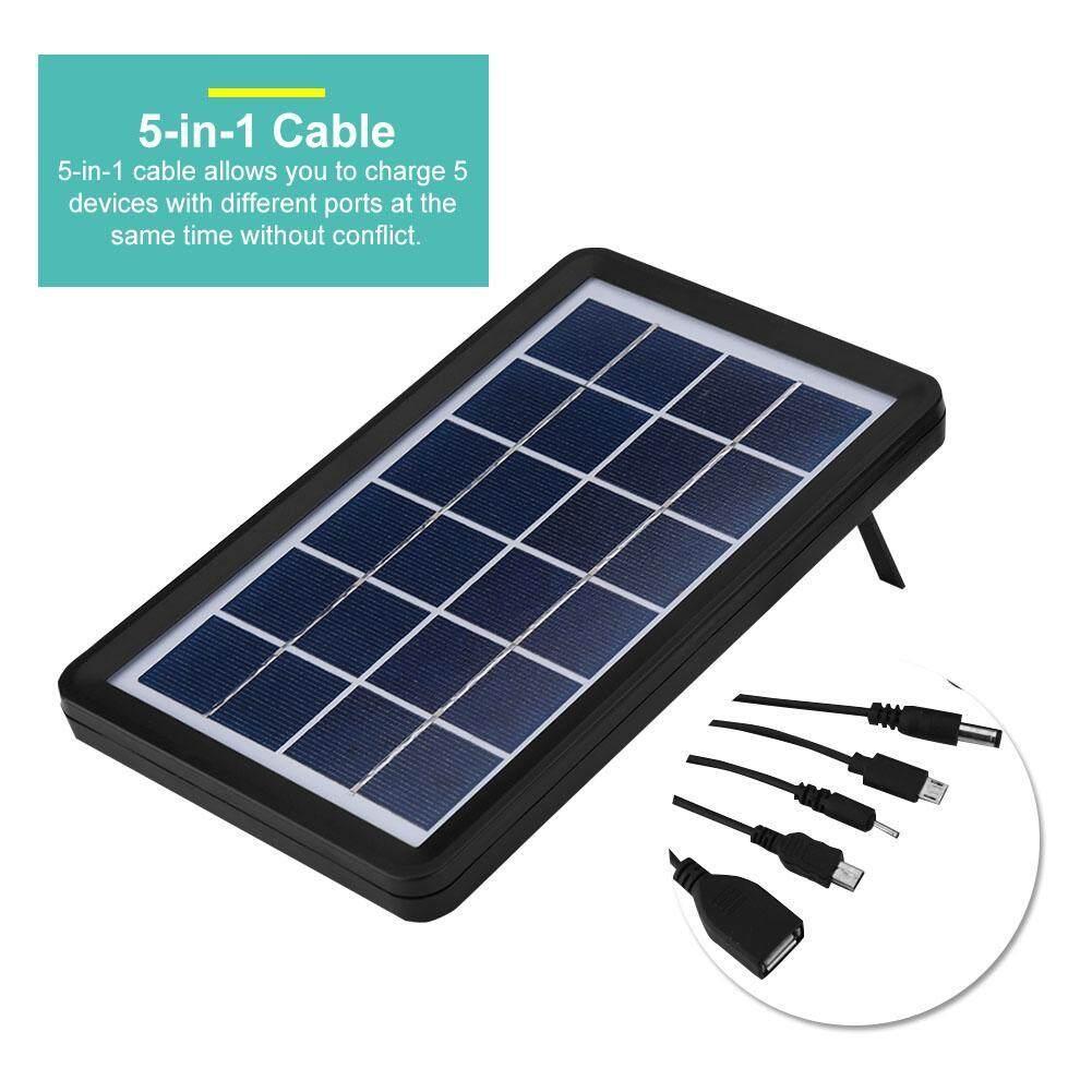 6 V Panel Surya 5-In-1 Kabel Poly Sel Surya Silikon 93%