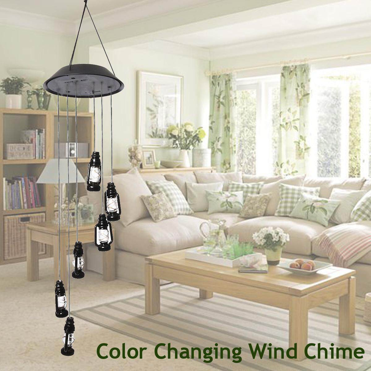 NEW Solar Powered Wind Chimes Color Changing Led Light Outdoor Garden Décor