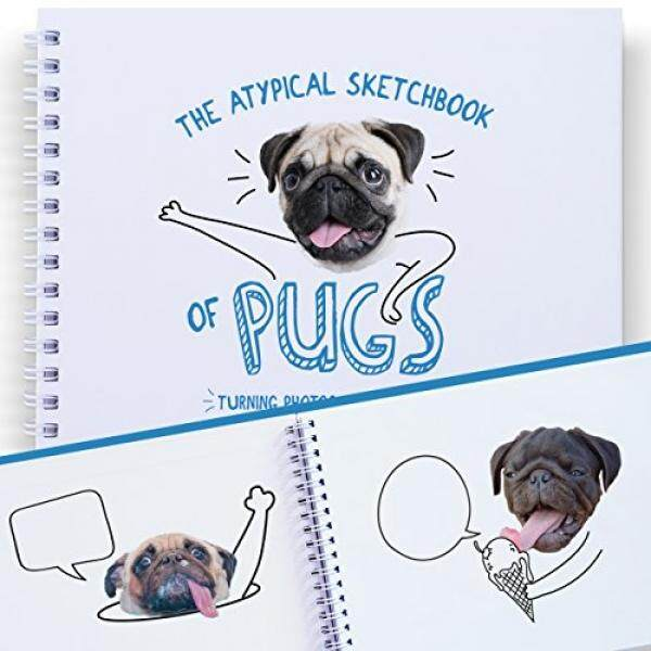 The Best Sketchbook For Kids and Adults: Lets Complete Funny Pictures of Pugs. Art Activity, Gift Creative Activities and Drawing Ideas For Children, Teens and Adults, How to Draw Animals - intl