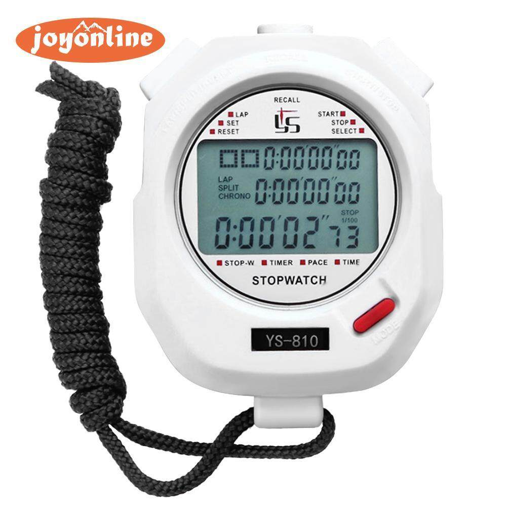 Hình ảnh Handheld Digital Stopwatch Chronograph Sports Training Timer Stop Watch(Neutral)- - intl