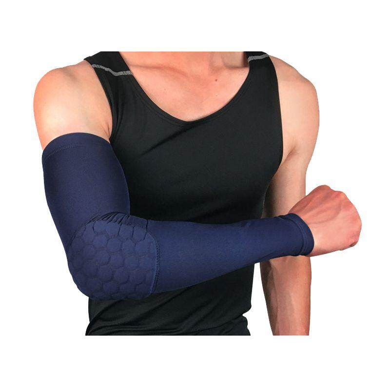 44edd6dddc Support Elbow Basketball Ball Honeycomb Pads Arm Sleeve Brace Sport Safety  Bandage Flexible Pads on Elbow