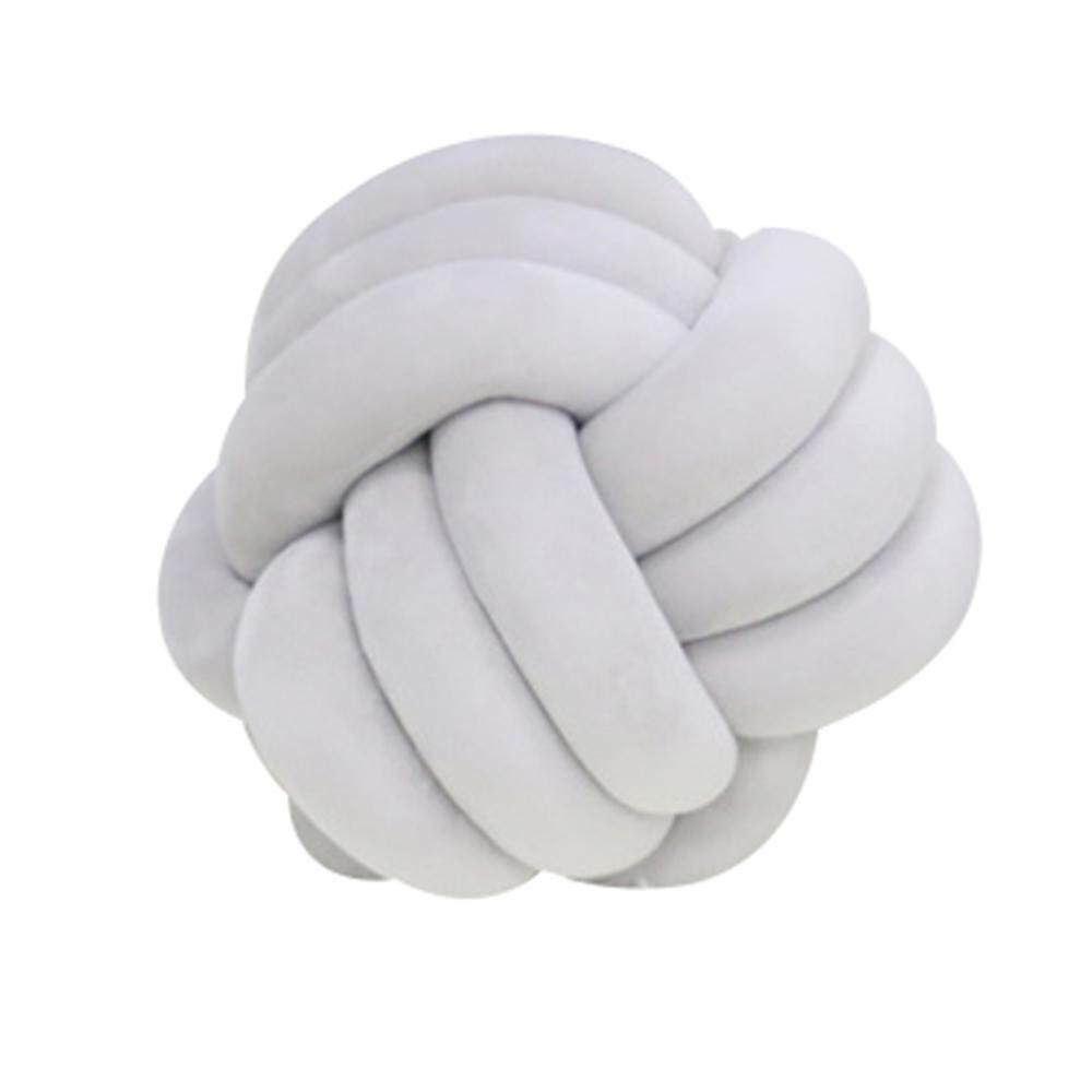 Pillows Covers Buy At Best Price In Malaysia Sarung Bantal For Comfy Baby Adjustable Brown Niceeshop Creative Soft Knot Cushion Knotted Ball Pillow Home Sofa Office Decor
