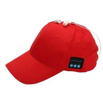 บลูทูธ Casual ชุดหูฟังแบบปรับได้ทำความสะอาดง่ายดวงอาทิตย์หมวก unisex หมวกเบสบอล