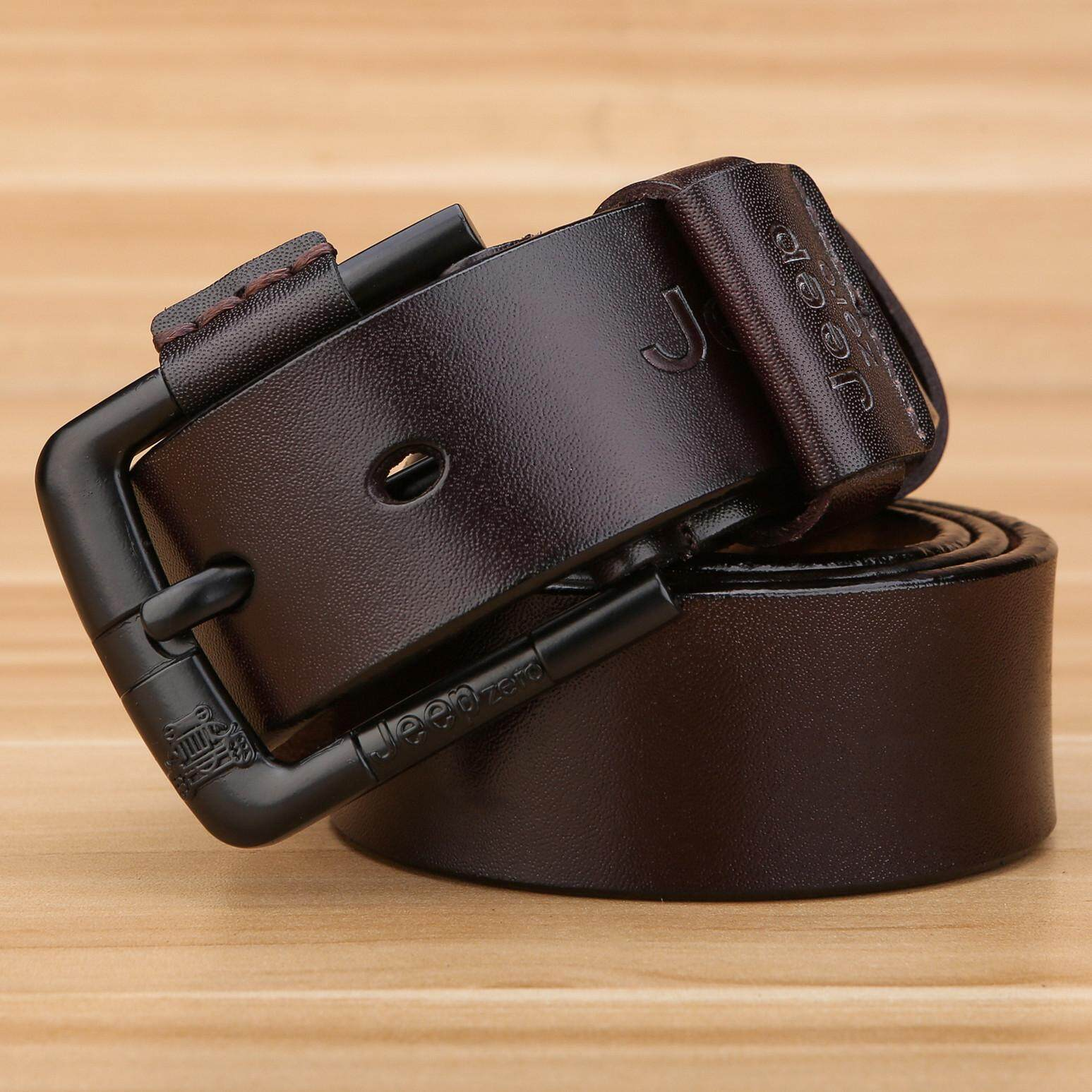 Buy One Get A Beautiful Necklace 2019 New Fashion Genuine Leather Belt For Men Business Suit/ Jeans Belt 3.8cm Width 125cm Length Can Be Cut (brown) By Yfcgood&store.