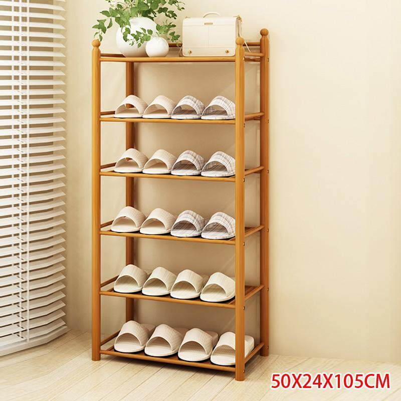 RuYiYu - 50 X 24 X 105cm/ 19.7 X 9.4 X 41.3 inch, Bamboo Shoe Rack 6 Tier Entryway Shoe Shelf Storage Organizer - intl