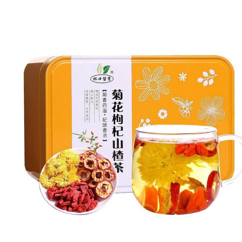 Krisan Wolfberry Hawthorn Tea Cangkir Teh Harum Chrysanthemum Tea Cina Wolfberry Teh Hawthorn Bunga Tea Kombinasi Tea-150g-Internasional