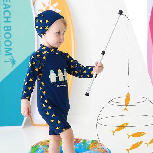 43868d209ea81 Boys Swimsuits Boys Swimming Suits Boys Clothing Children Trunks Boxer  Coverall Boys Long Sleeve Sunscreen Baby