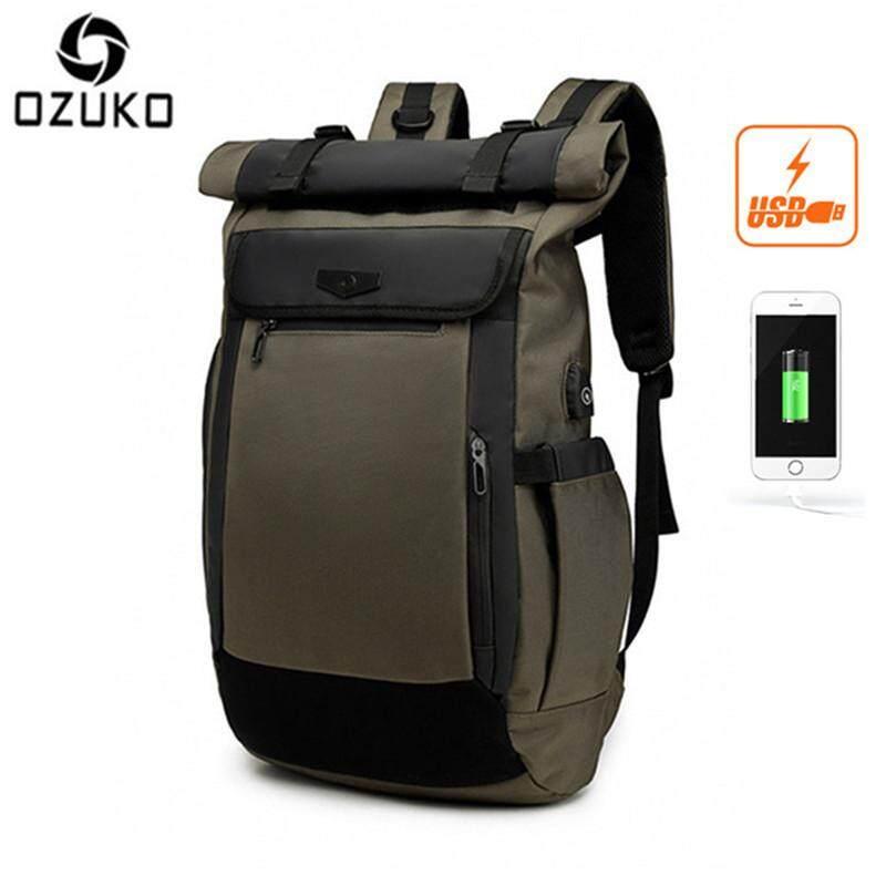 ca6cca5c58c LOSELF - OZUKO USB Waterproof Oxford 15.6-Inch Laptop Backpack Large  Capacity Business Backpack Casual