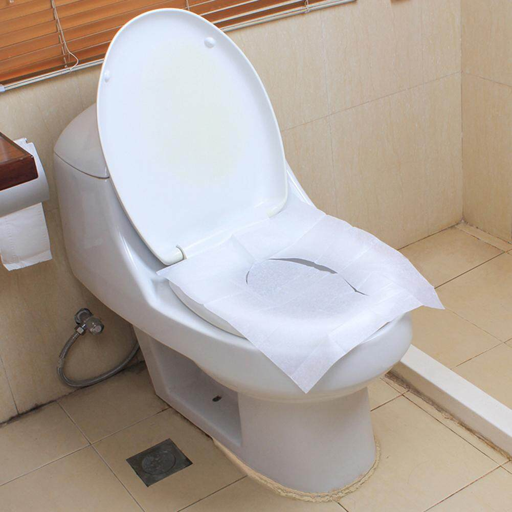 Phoenix B2C 10 Lembar Toilet Duduk Sekali Pakai Alas Penutup Perjalanan Portable Tisu Toilet Pad