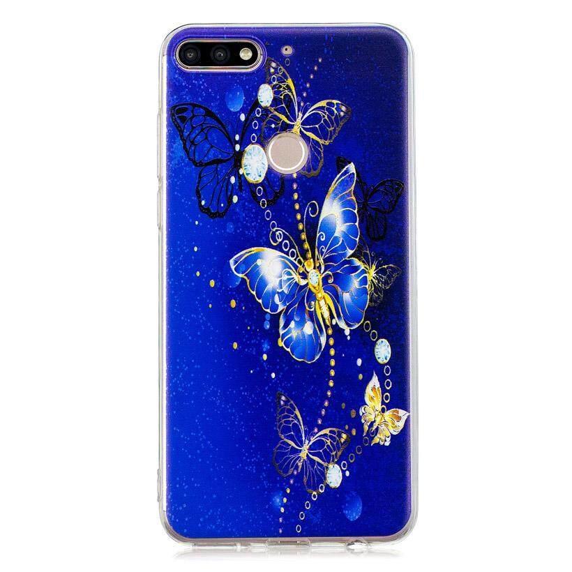 Akabeila Transparansi Tinggi Dicat Tpu Ponsel Casing untuk Huawei Nikmati 8 Huawei Honor 7C Huawei Nova 2 Lite Y7 2018 Y7 Perdana 2018 Y7 Pro 2018 5.99 Inch Cover Pola Yang Indah Lembut Pelindung Telepon Kembali Wadah Plastik