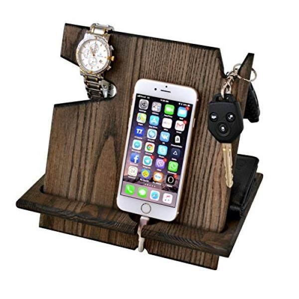 Smartphone Kasus Berdiri Kayu Buatan Tangan Stasion Dok Telefon Ashtree Ebony Gantungan Kunci, Dompet Jam Tangan Berdiri Organizer Hadiah Pria iPhone Android iPhone (X, 8 8 PLUS 7, 7 Plus, 6 S Plus, 6 S, 6 Plus 6, 5 5 S) Samsung Galaxy Dll-Intl