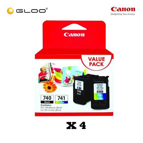 [Set of 4] Canon Fine Value Pack 11 PG-740+CL-741 Ink Cartridges
