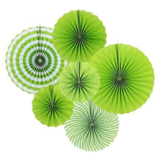 Hidup Warna Cerah Kipas Kertas Gantung Mawar Dekorasi Pesta 21 Cm 31 Cm 42 Cm (