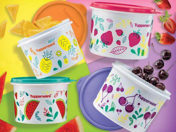 Tupperware Fruity Canister Set (4)