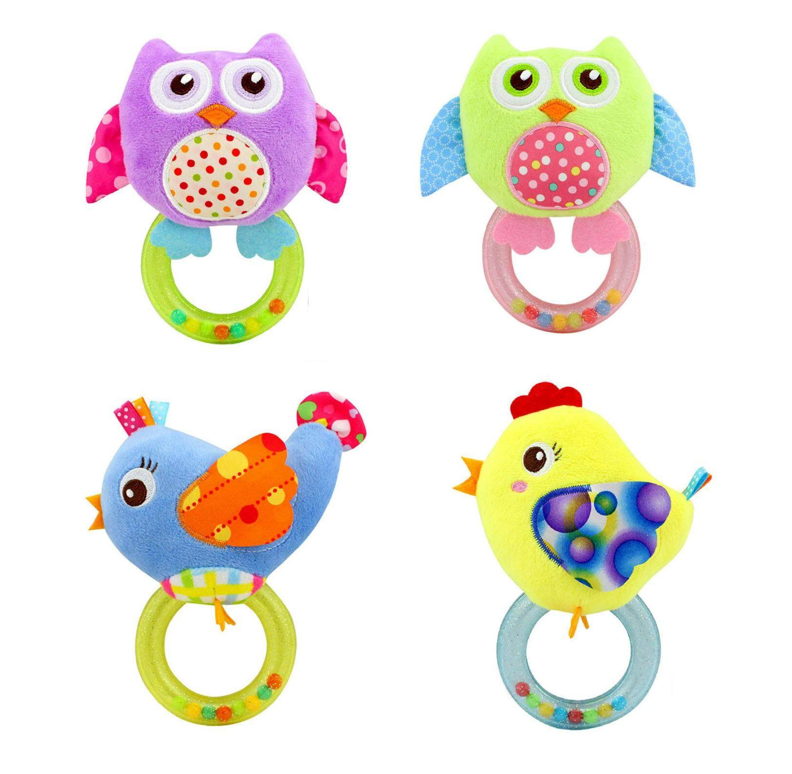 Features Happy Monkey Baby Rattles Toy Hand Rattle New Born Ange Teether Aa05