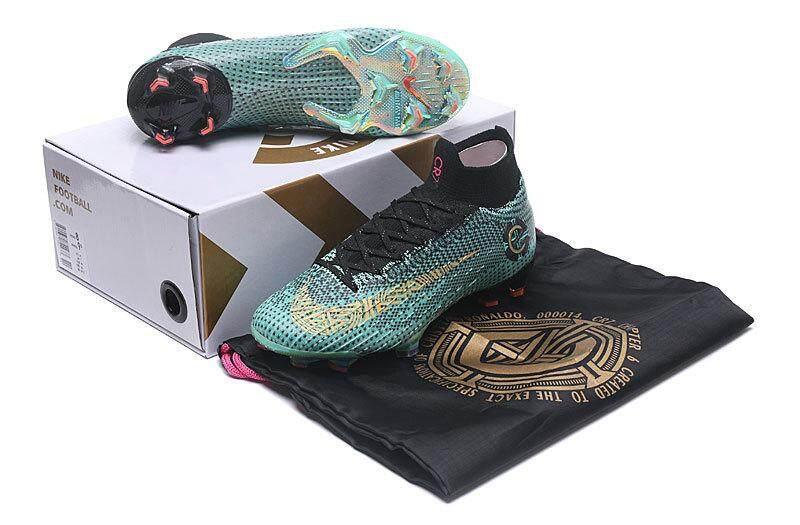 Asli Nike_Mercurial Superfly VI Elite Sepatu Sepak Bola FG Outdoor Tahan Air CR7 Sepak Bola Pria & Wanita Ukuran EU35-45 20C8/1EE8/E15B /40F6