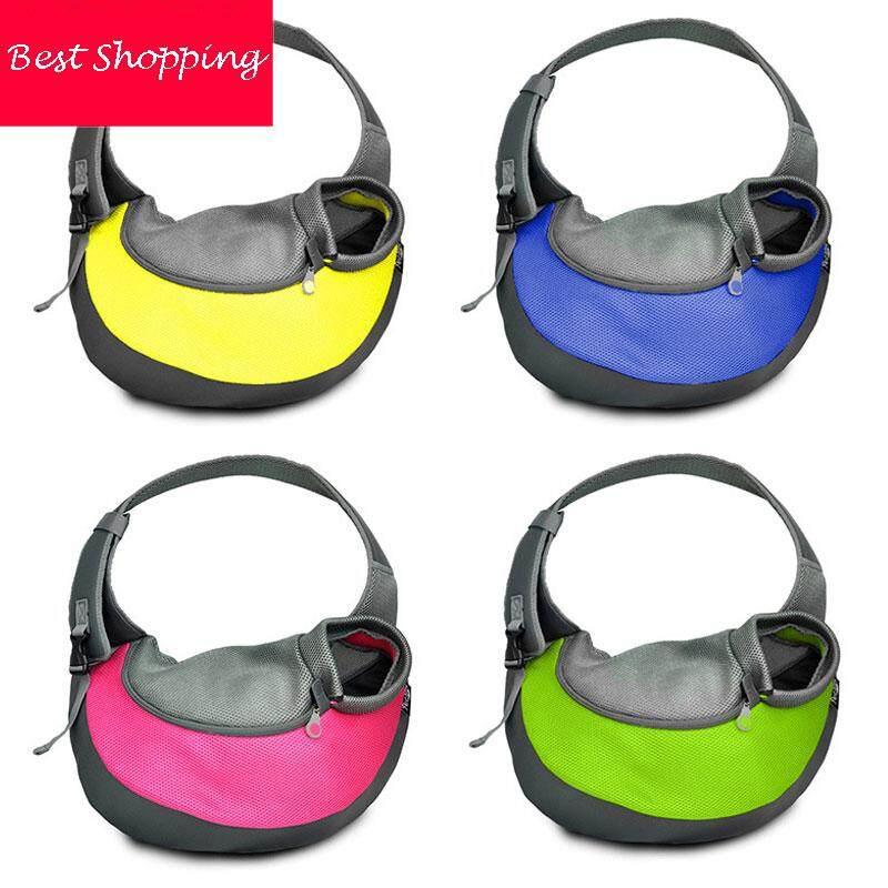 c99d2eb4d4fc0f Pet Sling Bag Shoulder Carrier Bag Pouch Comfort Mesh Travel Pouch Shoulder Carry  Tote Handbag for