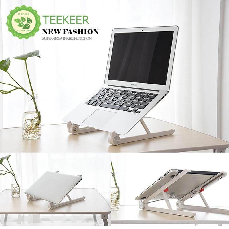 Teekeer Portable Laptop Stand Foldable Adjule Notebook Holder For Desk Cooling Lightweight