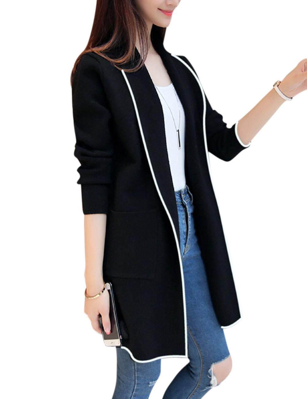 a02eacb0a4 YANYI Women Fashion Loose Cardigan Classic Elegant All-match Tops Coat