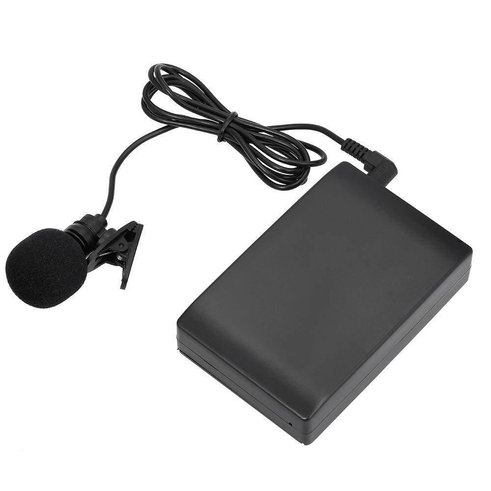 Mini Wireless Clip-on FM Microphone Lavalier Mic System Voice Amplifier w/ Receiver 6.5mm Out for Teacher Lecturer Conference Speech Promotion
