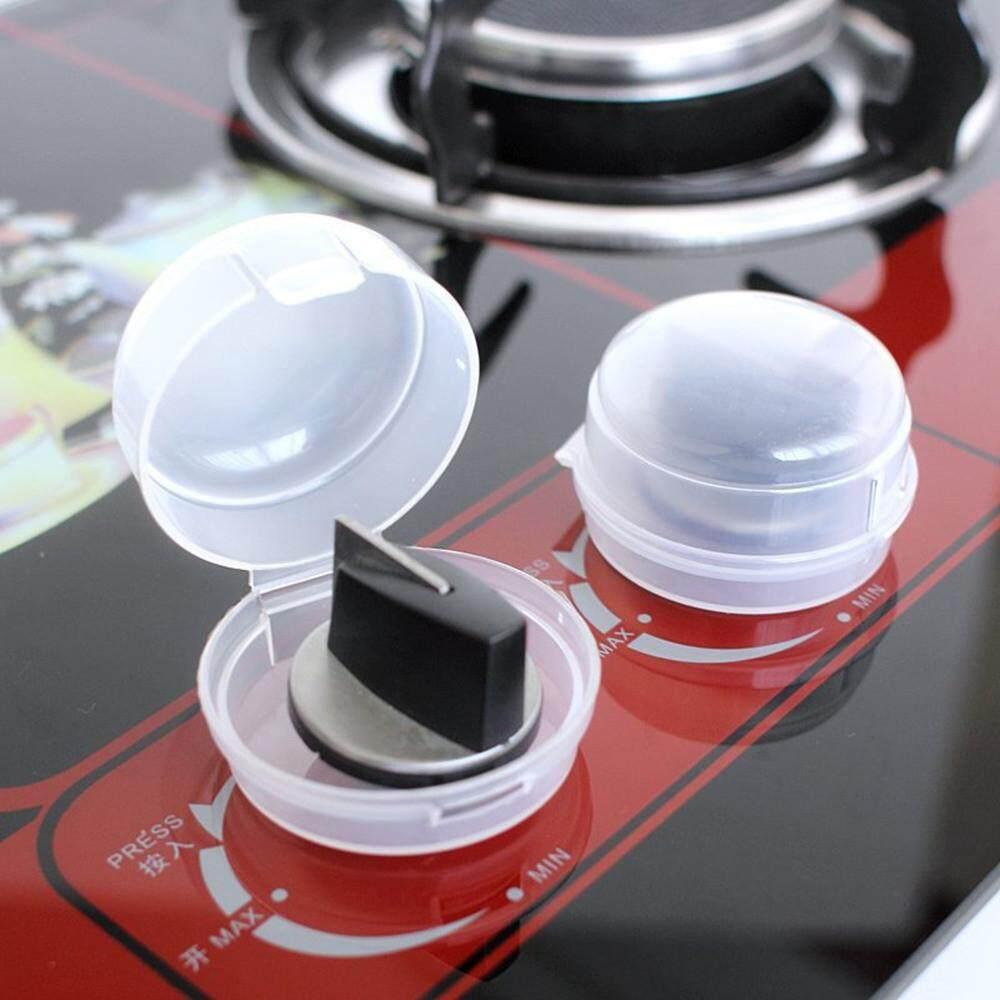 2 PCS Anak Safegaurd Kunci Dapur Cooker Gas Kompor Oven Penutup Tombol Perisai Pelindung-Intl