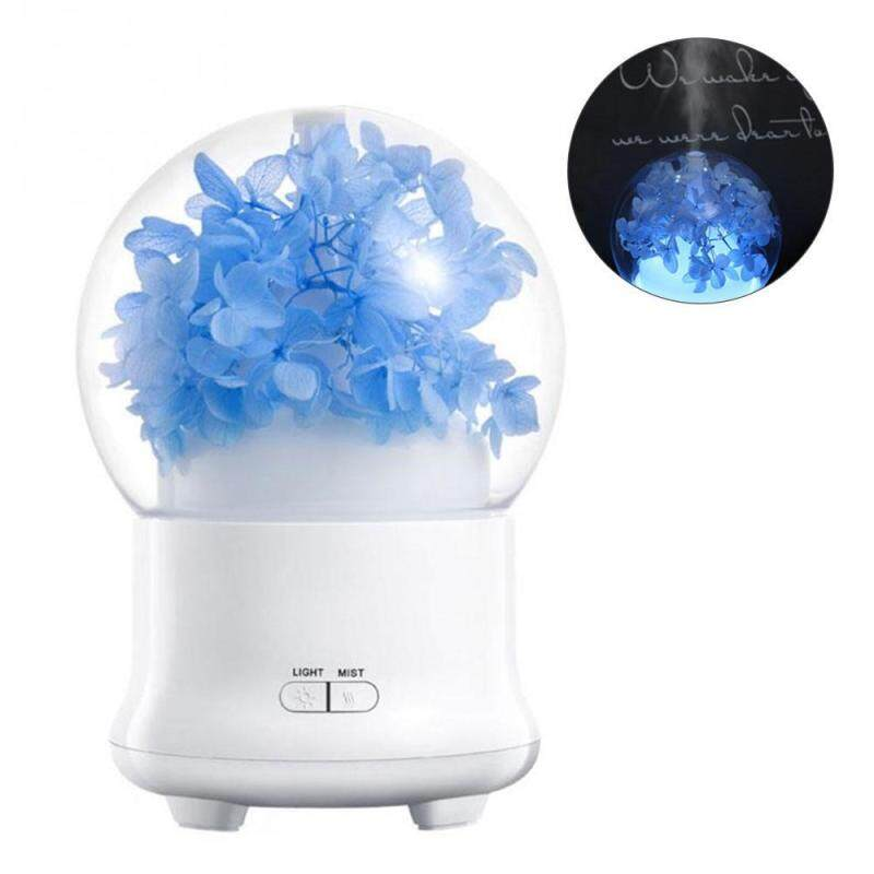 HONGHUI Essential Oil Diffuser, Preserved Fresh Flower Ultrasonic Aroma Diffuser with 7 Color Change LED,2 Setting Mist Mode and Waterless Auto Shut-off for Home,Living room ,Office,Yoga(Best Gift) by Teepao - intl Singapore