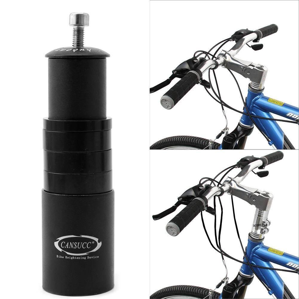 Fitur Mtb Double Mountain Bike Stang Extender 20 Cm Bracket Holder Grip Hitam Handlebar Fork Stem Increased Control Tube Adapter
