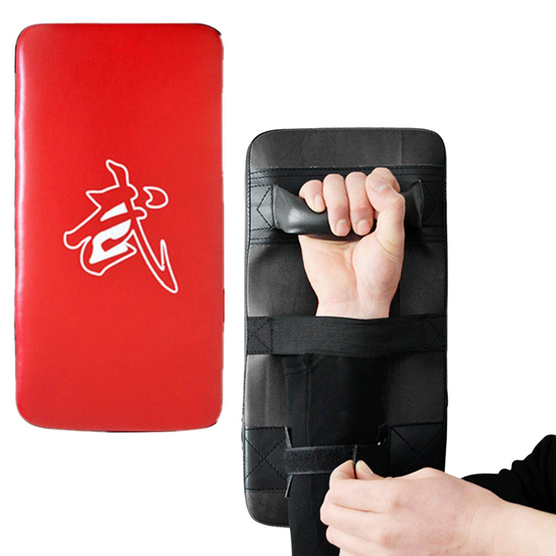 Hình ảnh PU Leather Boxing Kick Punch Pads Kick Shield Punch Bag for Kickboxing Thaiboxes Karate Free Combat Muay Thai Taekwondo Karate - intl