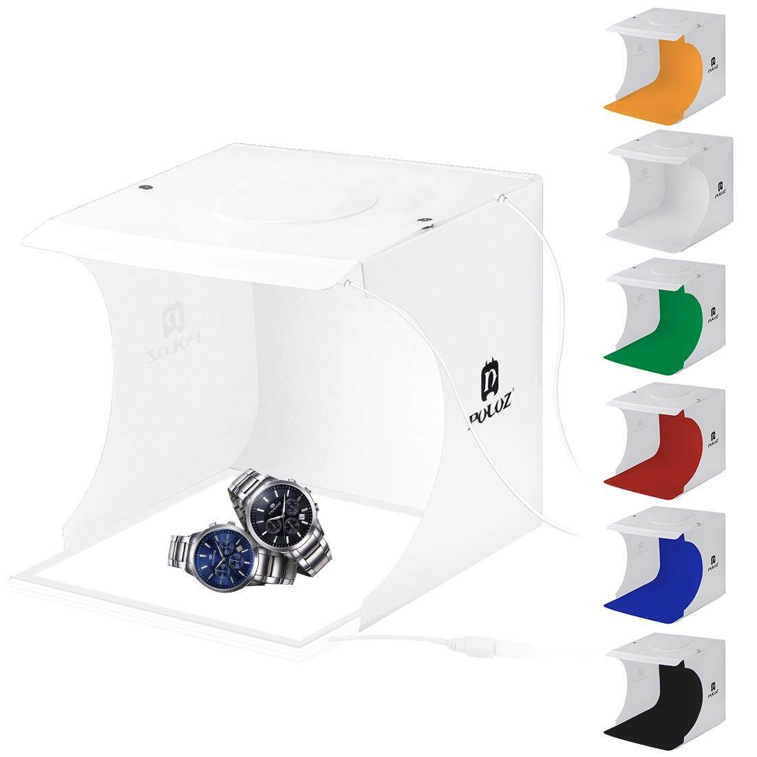 PULUZ Mini LED Photography Shadowless Light Lamp Panel Pad + Studio Shooting Tent Box, Acrylic Material, 20cm x 20cm Effective Area