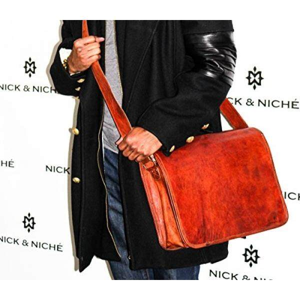 Laptop Messenger Bags NICK   NICHÉ Vintage Handmade Genuine Leather Travel  Laptop Messenger Bag with Size c9a7f22110561