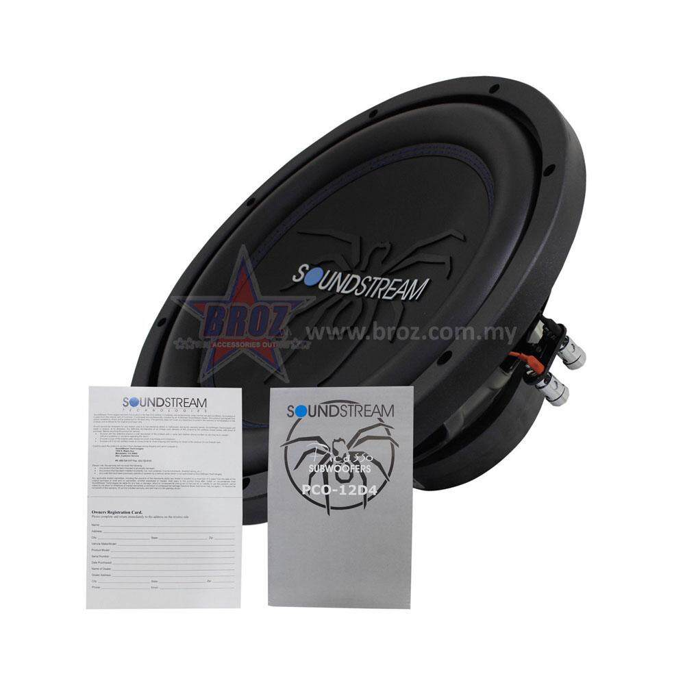 "Broz SoundStream PCO-12D4 12"" Picasso Series Subwoofer 700W"