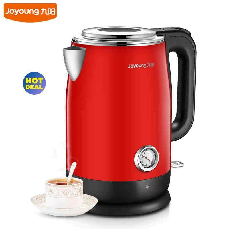 Joyoung K17-F68 High Quality Stainless Steel Electric Kettle 1.7L Heat Preservation Auto-off Kettle (Red)