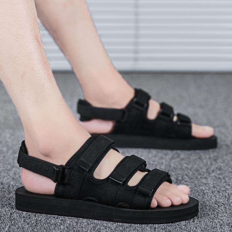 e44f84fdfb47 Sandals Male 2019 New Style Summer Men s Slippers Korean Style Trend Beach  Sandals Outer Wear Summer