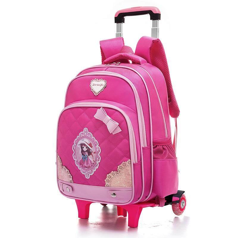 6f2497a380 OTO5 Primary School Trolley Bag Shoulder Package Six Wheels