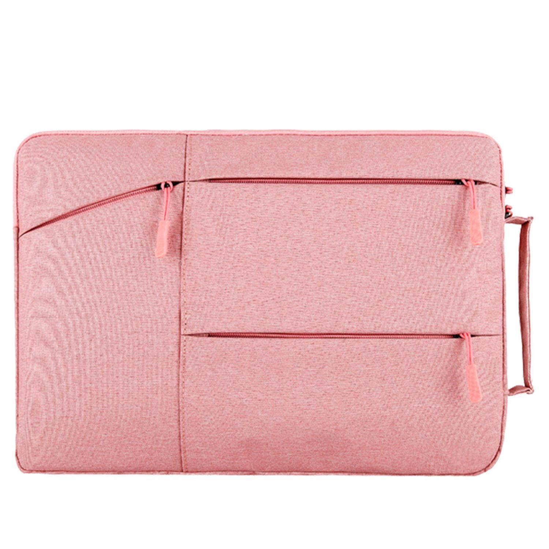 Portable Laptop Multi Fungsi Tas Tangan Lengan Notebook Sampul Tas dengan Saku Samping untuk Macbook Air Pro Lenovo Dell Acer 13 Inch
