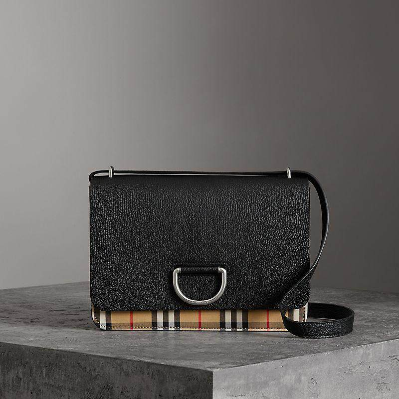 4d74917dc187 Burberry,Fashion, tila, beauty, black, hand-held backpack, ladies, British  Fashion, trumpet, leather,VintageVintage plaid matching leather D ring bag