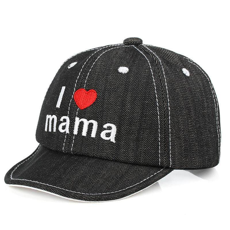 Lovely Babys I Love MUM I Love Papa Embroidery Cup Soft Snapback Cup Baby  Sunhat a2feed8e25