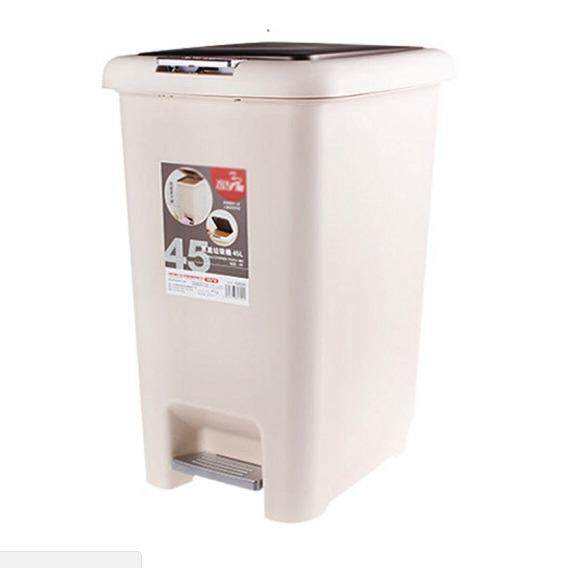 (OW) 45 Lit Elegance Double Cover Step Dustbin