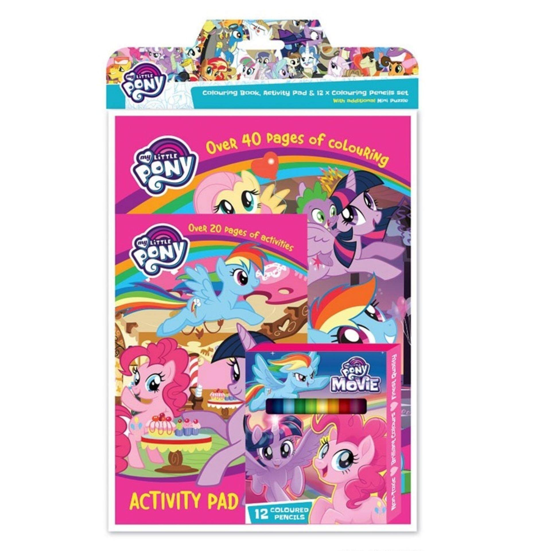 my little pony activity colouring book with activity pad 12pcs