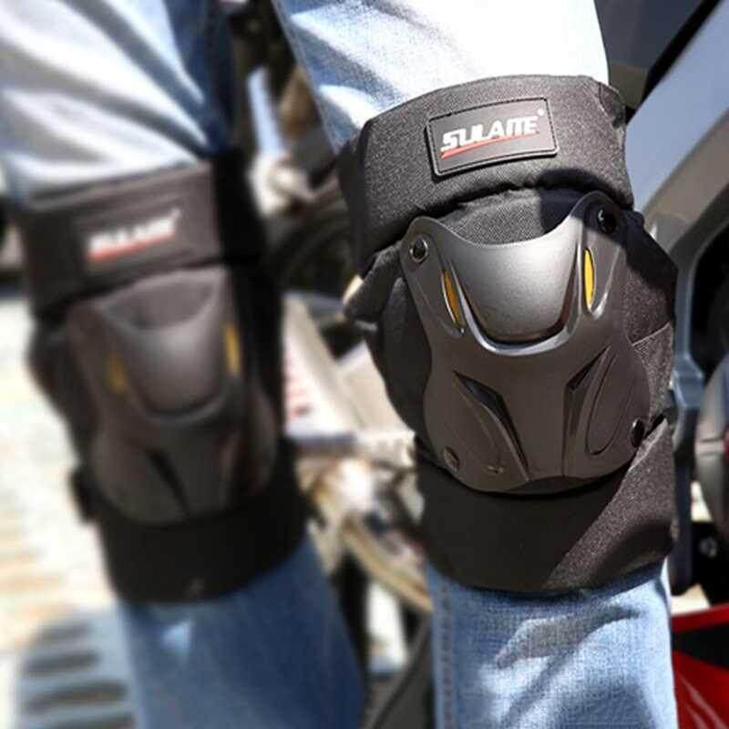 Lagobuy 1 Pasang Baju Besi Motor Pelindung Penjaga Bantalan Lutut Balap Off-Road Yg Tahan Pukulan