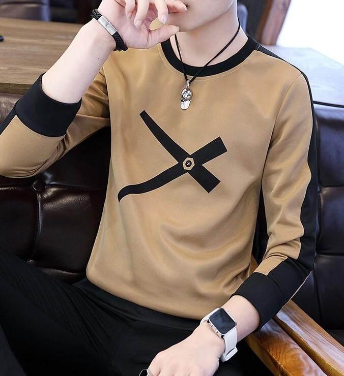 Jys Fashion Korean Style Men Long Sleeve Shirt Collection 387 1478a