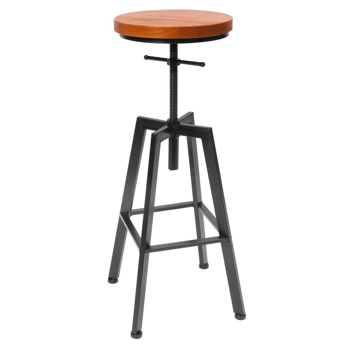 Vintage Retro Industrial Bar Stool Steel Home Kitchen Cafe Barstool Swivel Chair - intl